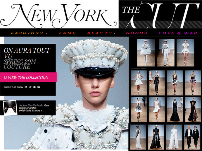 New York Magazine thecut runway 2014 spring paris couture on aura tout vu brand by Yassen Samouilov Livia Stoianova