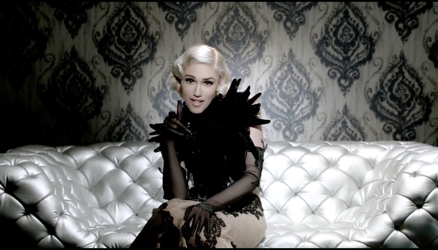 "Gwen Stefani's Fashion-Filled ""Misery"" music video wearing On Aura Tout Vu 3"
