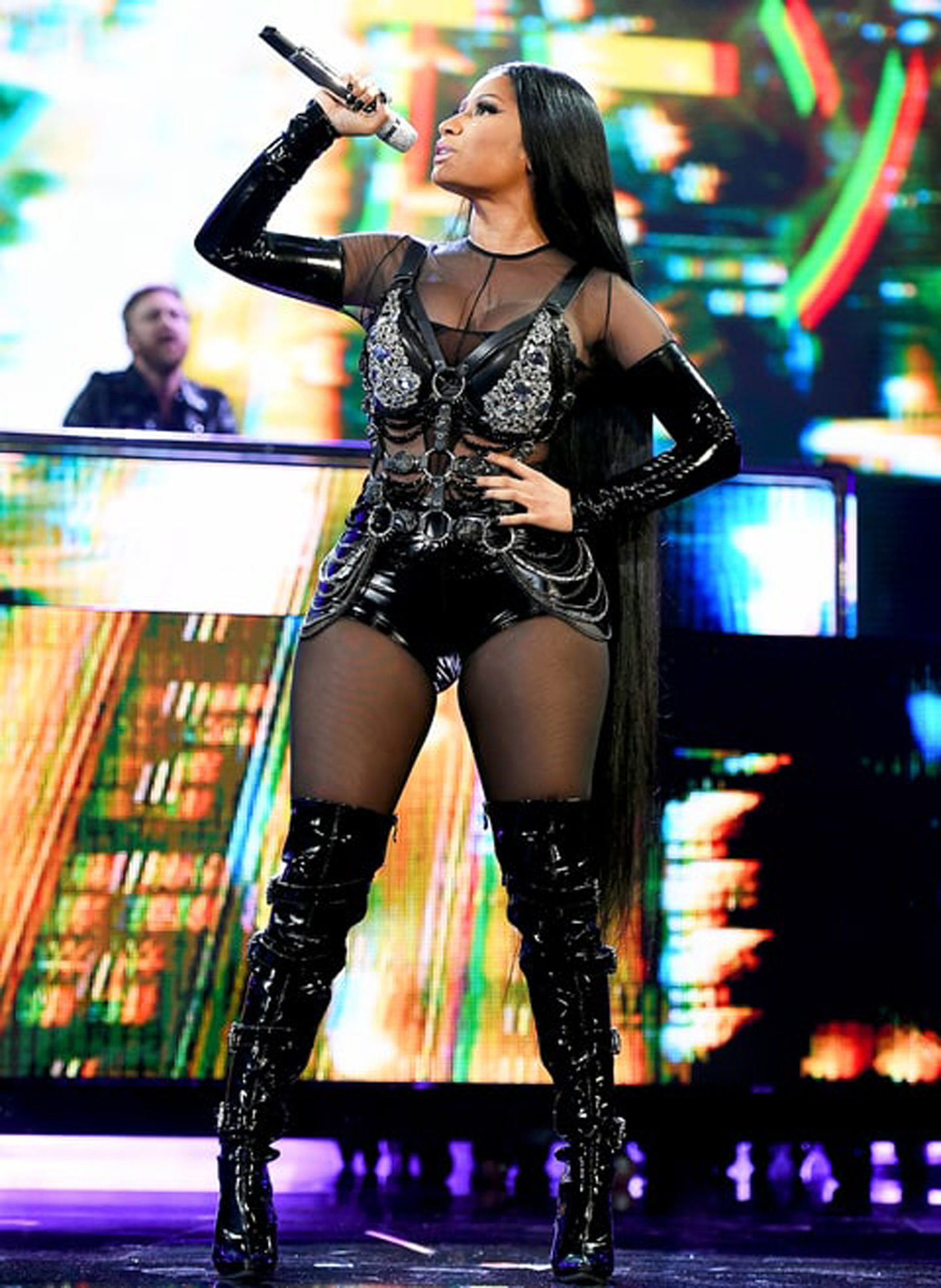 Nicki Minaj Slayed in on aura tout vu harness During BBMAs