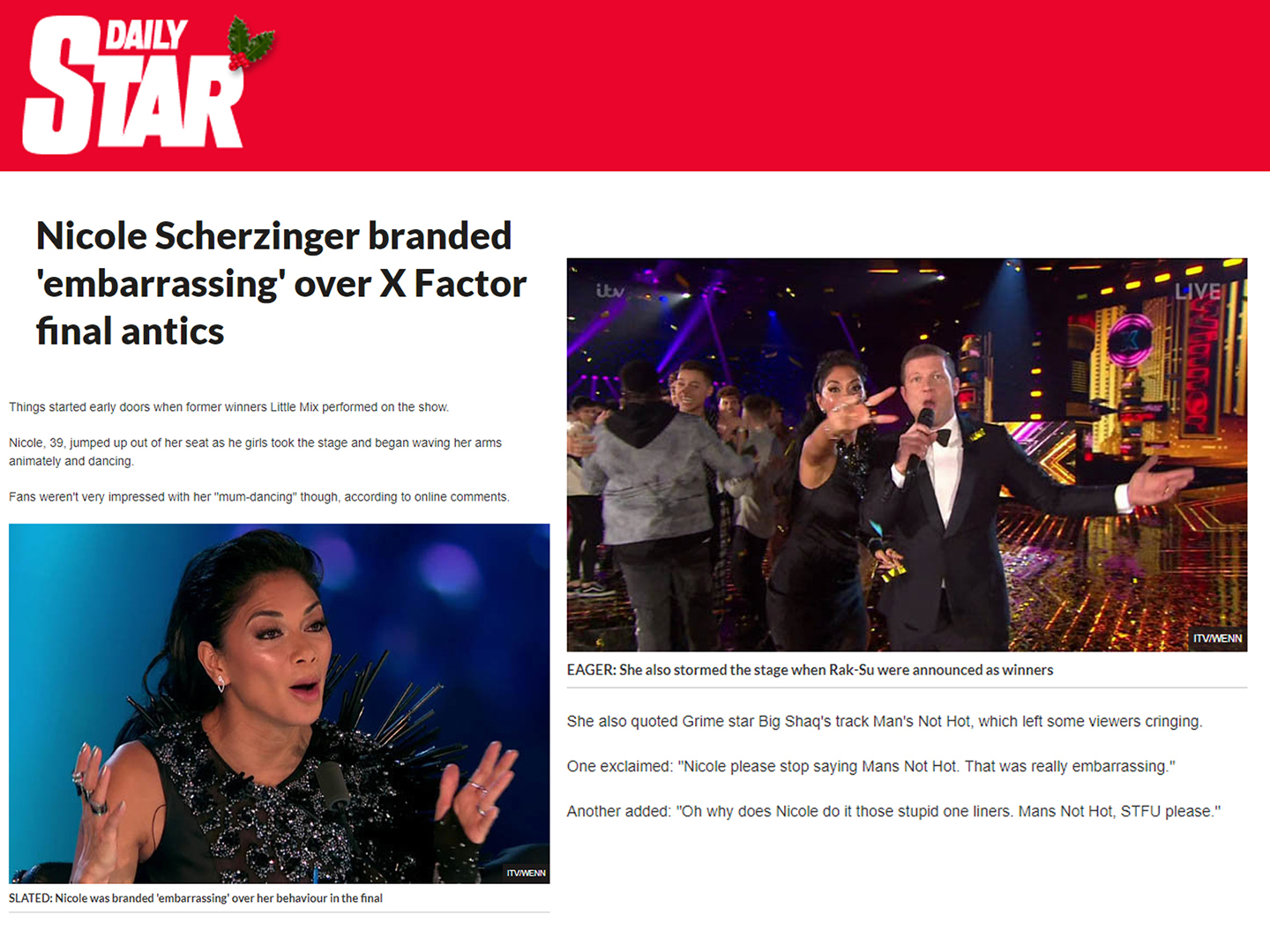 daily star news showbiz nicole scherzinger dresed by on aura tout vu x factor