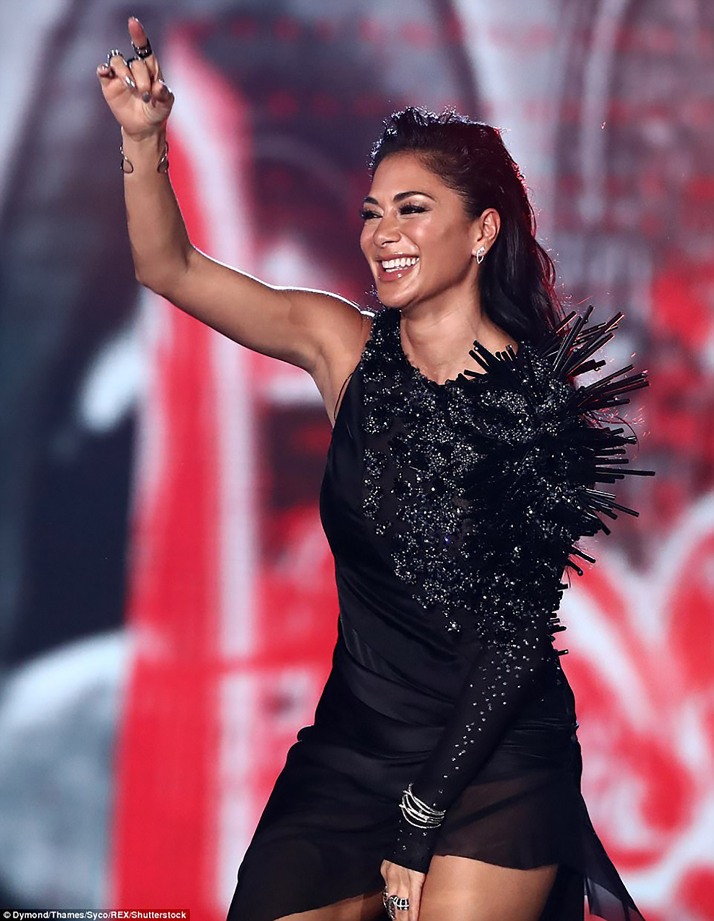 Nicole Scherzinger is wearing On Aura Tout Vu Couture X Factor