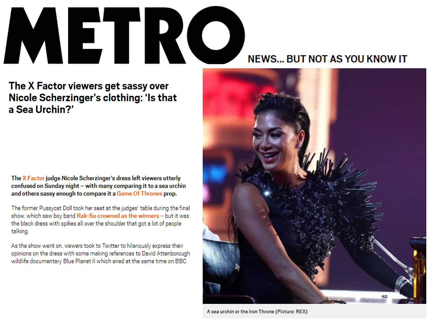 metro nicole scherzinger dresed by on aura tout vu x factor