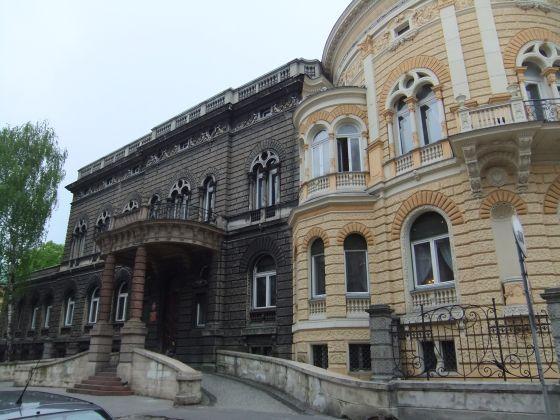 Immeuble, Lodz, marron, fenêtre