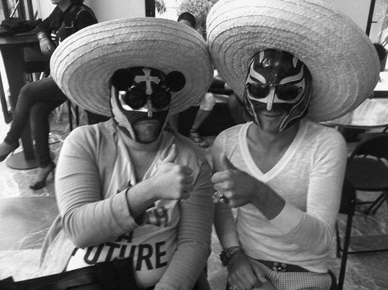 Pierre Henri, Yassen Samouilov, hommes, chapeau mexicain, masques