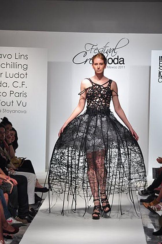 mannequin, robe, creamoda, podium, défilé, public