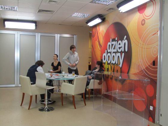 Varsovie, plateau TV, siège, pièce