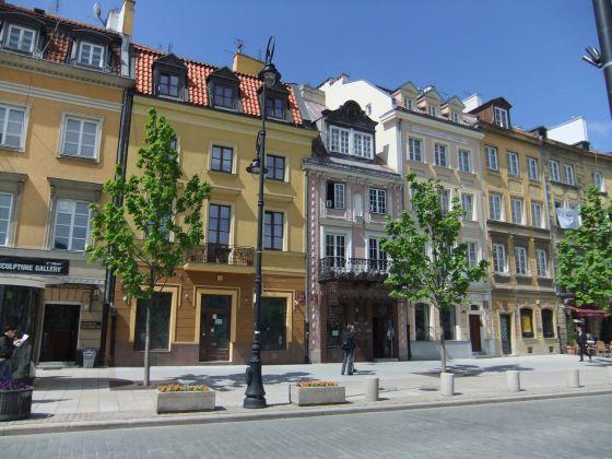 Varsovie, immeuble, ville