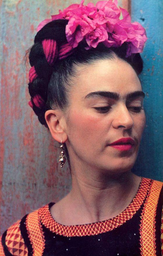 Frida Kahlo, femme, orange