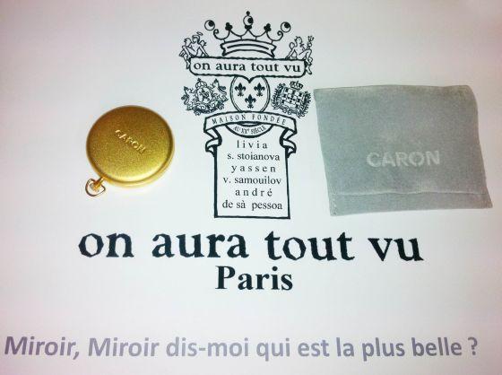 Caron, cadeau presse défilé Haute Couture on aura tout vu
