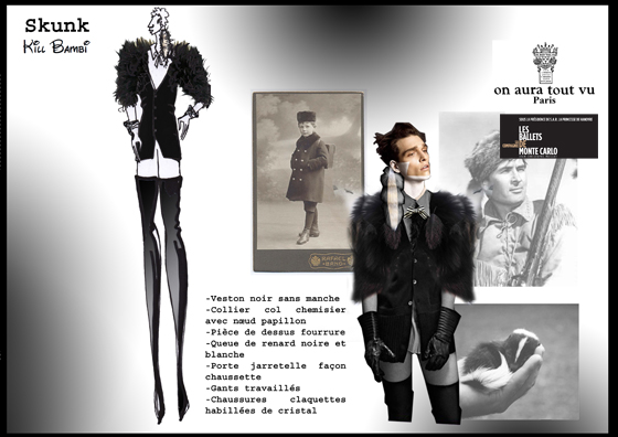 skunk costummes for kill bamby by on aura tout vu for ballet de montecarlo