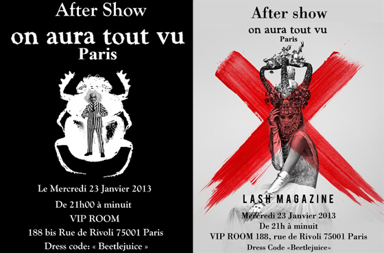 Aftershowcouture on aura tout vu 2013 VIP Room