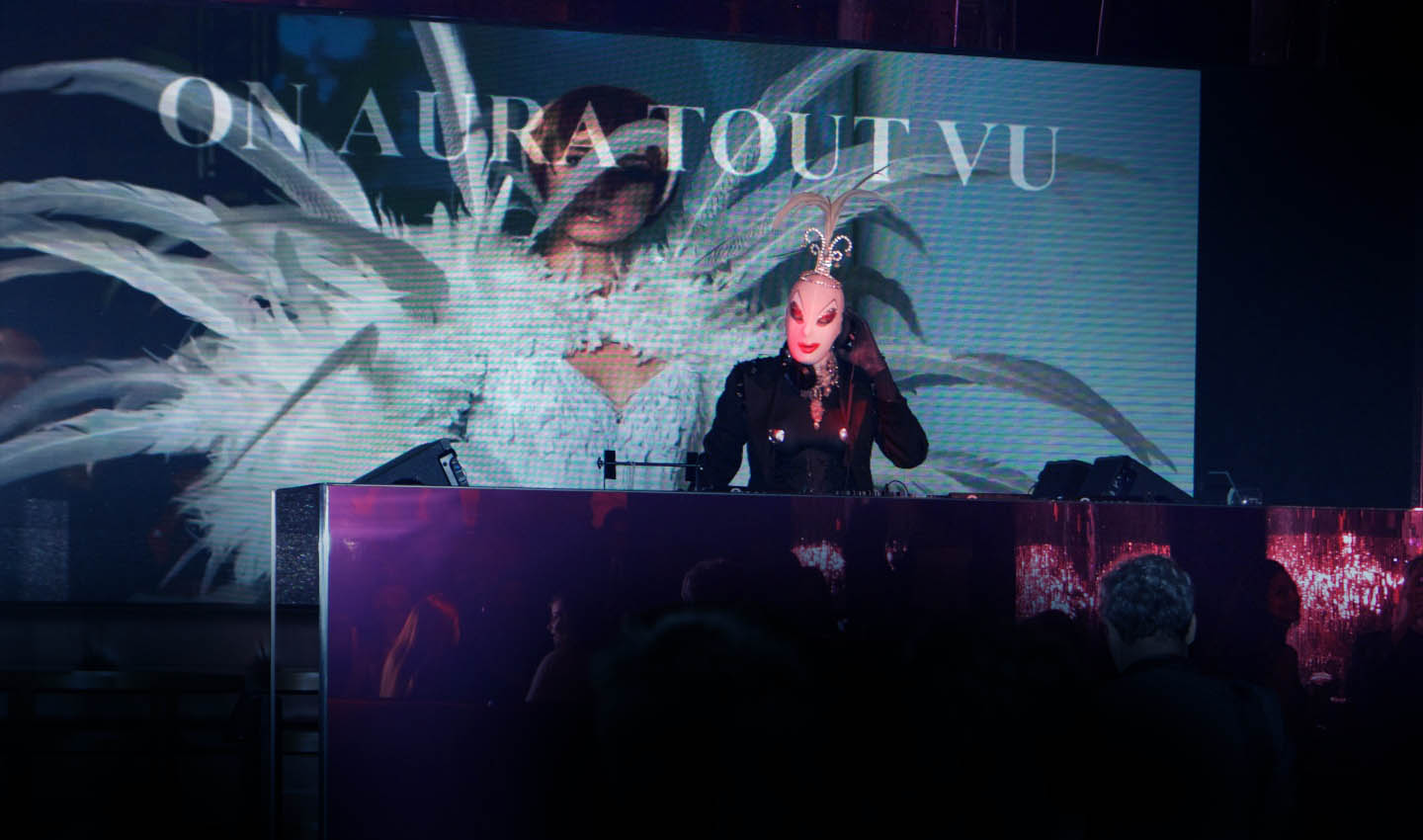 DJ corrine at Aftershow couture queen night club paris fashion week yassen samouilov livia stoianova