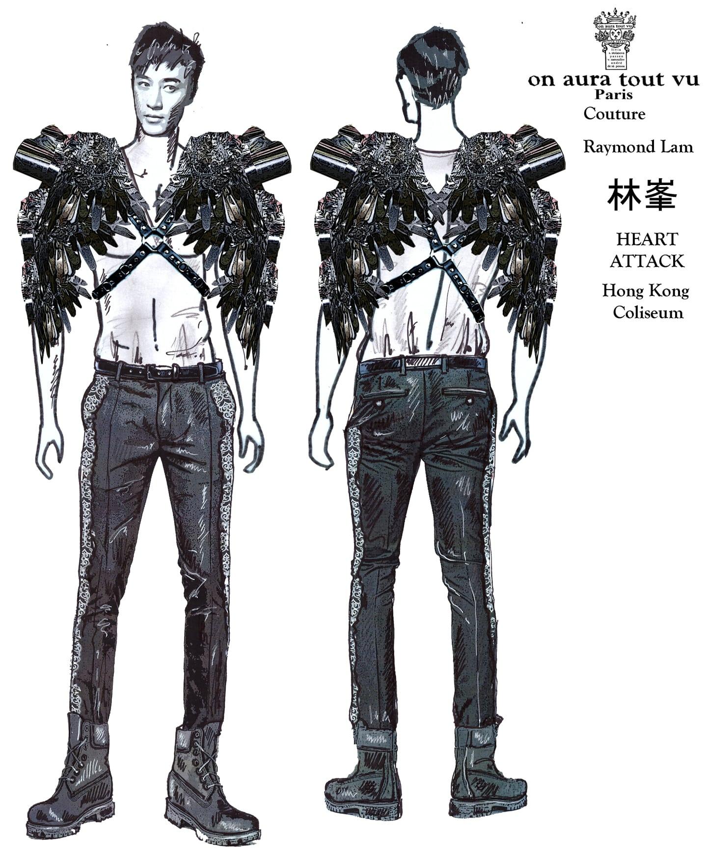 林峯 Raymond Lamcouture by on aura tout vu silver harness fashion