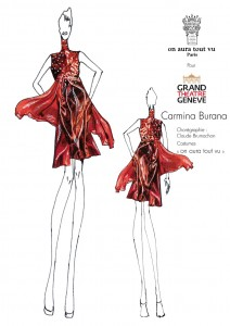 Tunique Rouge costume on aura tout vu carmina burana 2016