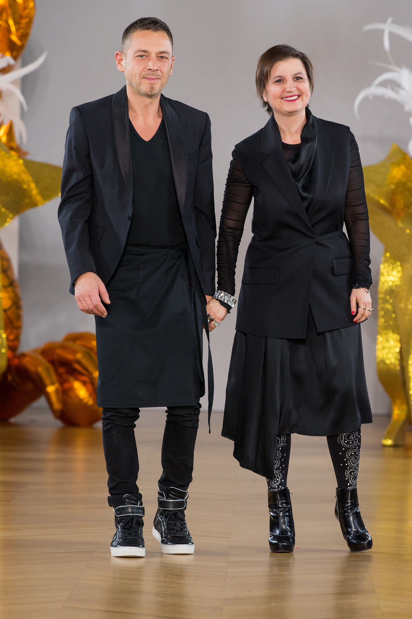 The designers of on aura tout vu yassen samouilov livia stoianova final fashion show