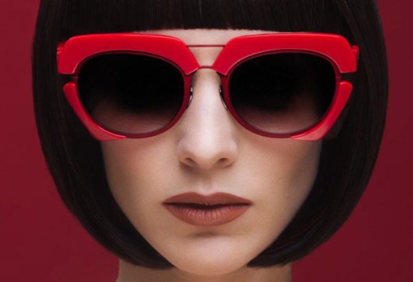 sunglases red acetate by on aura tout vu