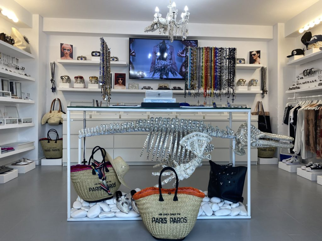 Delphine skeleton in cristal at on aura tout vu store in naoussa paros