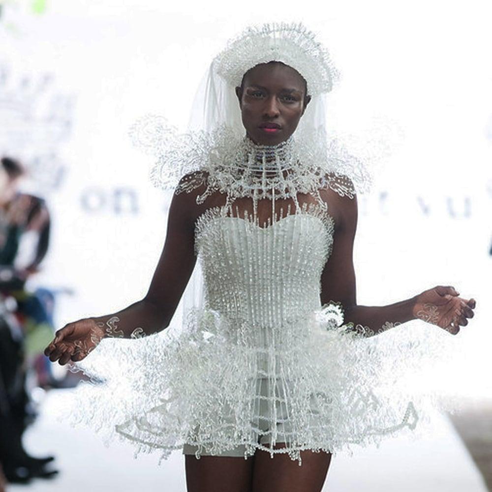 cerebrum color cornucopia fw 2013 2014 by on aura tout vu white dress