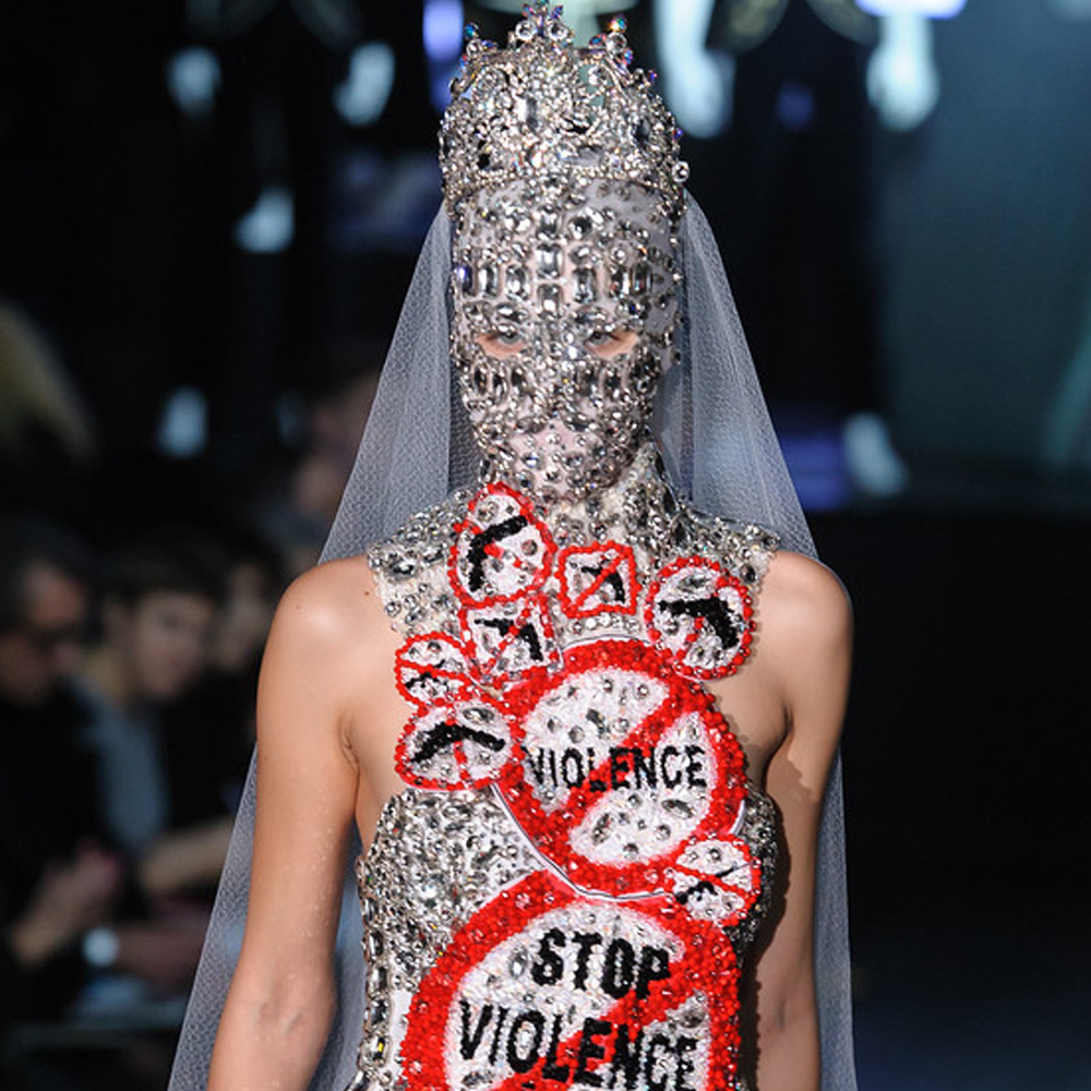 mask in crystals for couture dance collection by on aura tout vu ss2015