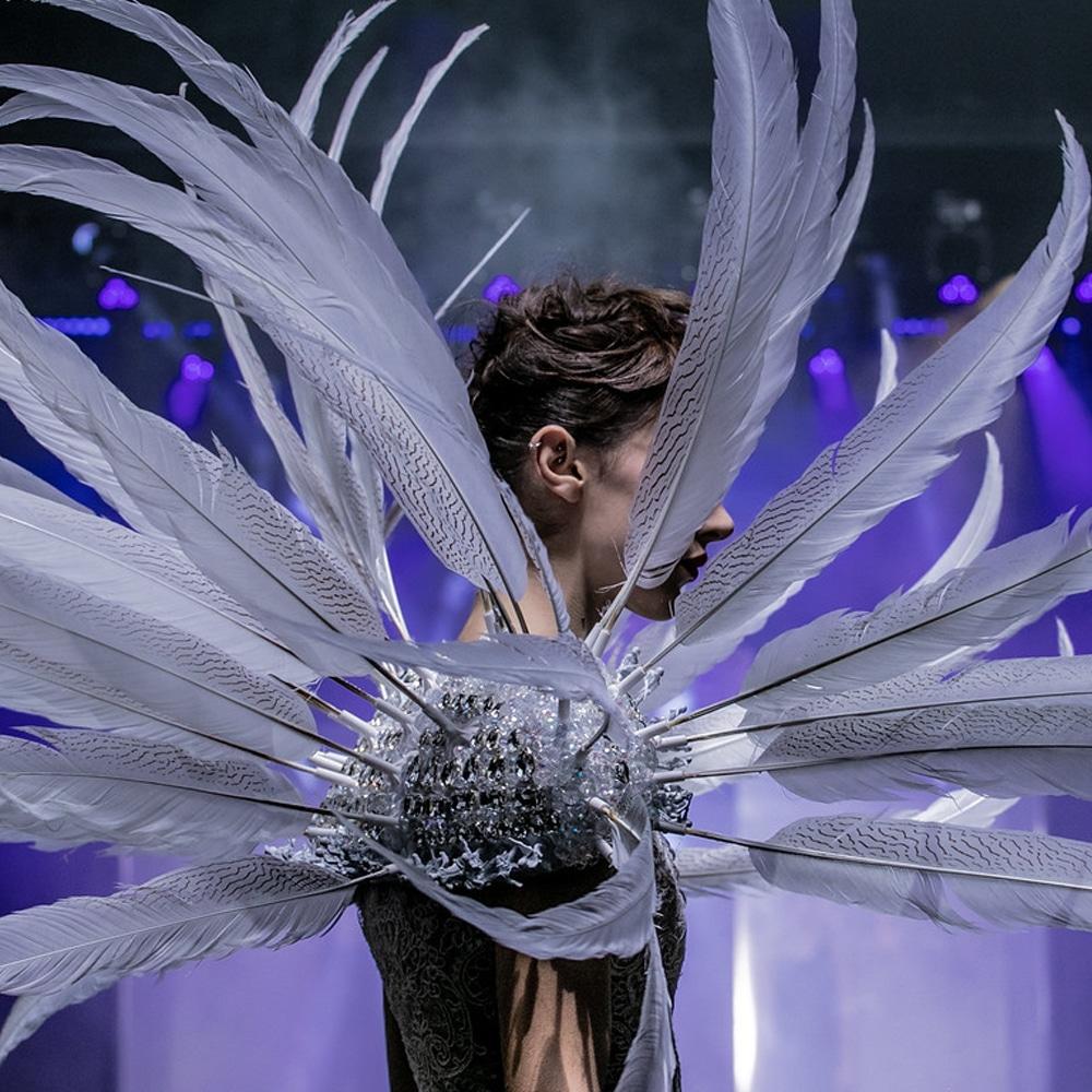 on aura tout vu white feathers dress